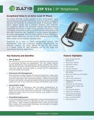 ZIP 51e | IP Telephones - Zultys, Inc.