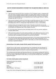 Draft for advisor comment 13 JANUARY 2010 - easyJet plc