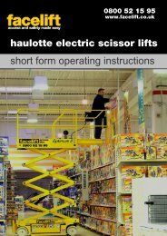 Haulotte Electric Scissor lifts - Facelift