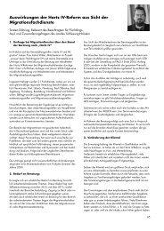 Auswirkungen der Hartz IV-Reform aus Sicht der ... - access