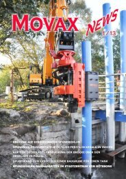 sheet pilers and excavator - Movax