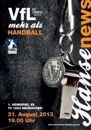 Ausgabe 01 (Download) - VfL Bad Schwartau Bundesliga Handball