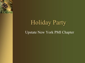 Holiday Party - UNY PMI: Home