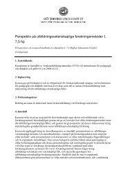 Perspektiv på utbildningsvetenskapliga forskningsmetoder, 7,5 hp