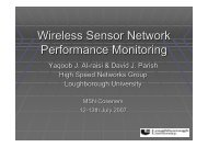 Wireless Sensor Network Performance Monitoring - University of ...