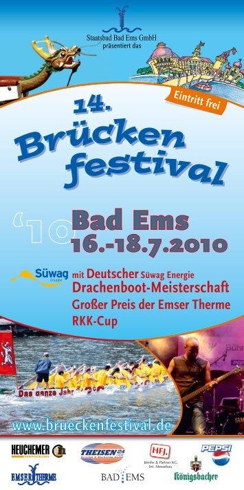 Br ücken festiva l 14. - Bad Emser Brückenfestival