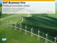 SAP Business One Product Innovation Success ... - Softengine Inc.