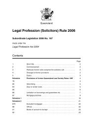 Legal Profession (Solicitors) Rule 2006 - Queensland Law Society