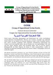 Rede vor der EU - Dr. Hussein Saado Portrait des GOSKs in Deutsch