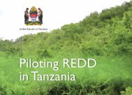 Government of Tanzania summary of pilot projects - The REDD Desk