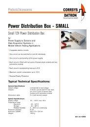 Power Distribution Box - SMALL - Corrsys-Datron
