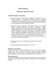 Skultes bibliotēkas 2012. gada pārskats - Limbažu Galvenā bibliotēka