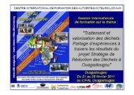 Résultats de l'étude sur le secteur informel - CIFAL Ouagadougou