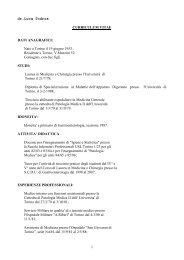 1 dr.Luca Todros CURRICULUM VITAE DATI ANAGRAFICI: Nato a ...