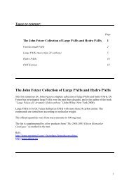 The John Fetzer Collection of Large PAHs and Hydro PAHs - Chiron