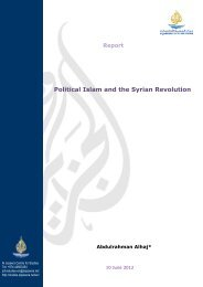 Political Islam and the Syrian Revolution