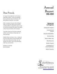 Dear Friends, - National Church Library Association