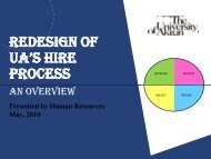 New Hire Process Redesign - The University of Akron