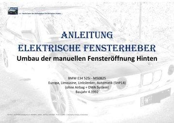 Anleitung elektrische Fensterheber - ah525i24ve34
