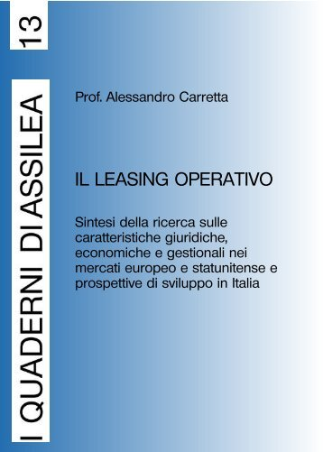 IL LEASING OPERATIVO - Assilea