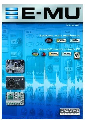 Systèmes audio numériques Echantillonneurs ... - Univers-sons.com