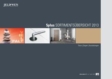 5plus SorTimenTSüberSichT 2013 - JELD-WEN Türen