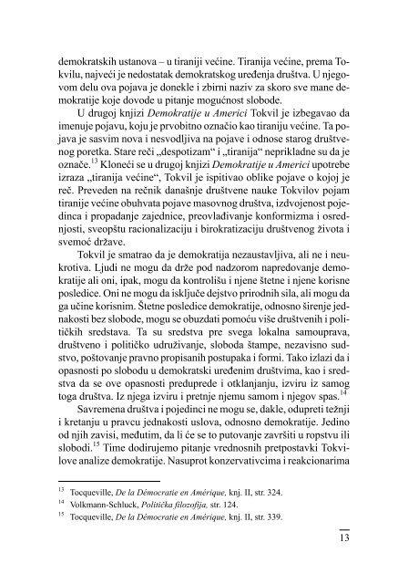 Demokratija i njene granice Aleksis de Tokvil i ... - komunikacija