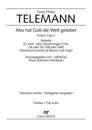 Page 1 Georg Philipp TELEMANN Also hat Gott die VVeIt geliebet ...