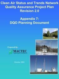 CASTNET DQO Planning Document.pdf - National Atmospheric ...