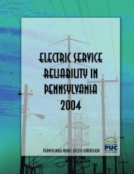 Electric Service - PUC - Pennsylvania Public Utility Commission