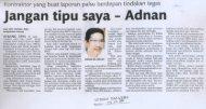 Jangan tipu saya - Adnan - MPSJ - Majlis Perbandaran Subang Jaya