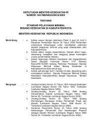 Keputusan Menteri Kesehatan RI Nomor:1457/MENKES/ SK/X/2003