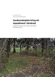 UV Rapport 2012:66. Arkeologisk förundersökning ... - arkeologiuv.se