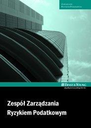 Zarządzanie Ryzykiem Podatkowym - Ernst & Young