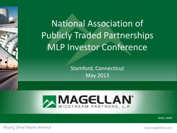 National Association of Publicly Traded Partnerships MLP Investor ...