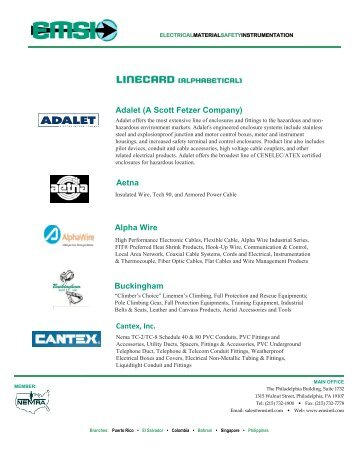 Alpha Wire Company MASTER CATALOG - YE International