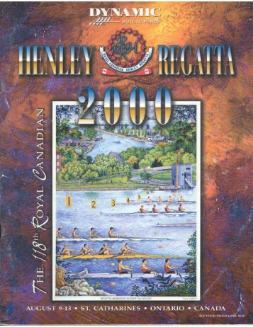 2000 - the Royal Canadian Henley Regatta Databases