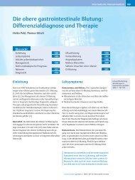 Die obere gastrointestinale Blutung: Differenzialdiagnose und ...