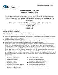 Notice of Privacy Practices Portneuf Medical Center