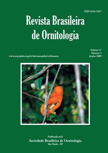 art01 - omena júnior.indd - Sociedade Brasileira de Ornitologia