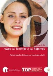 Respect de l'égalité des femmes et des hommes (PDF ... - Fedweb