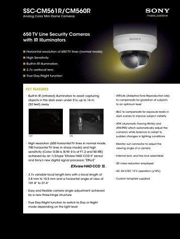 SSC-CM561R/CM560R - Elvia CCTV