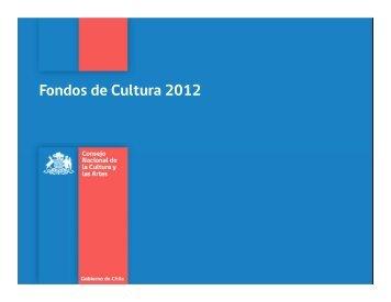 Presentación inducción ganadores Fondos Cultura 2012 personas ...