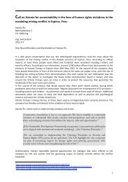 Call on Xstrata for accountability in the face of human rights ...