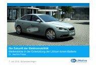 Die Zukunft der Elektromobilität Meilensteine in der Entwicklung der ...