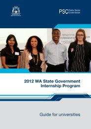 Guide for universities 2012 WA State Government Internship Program