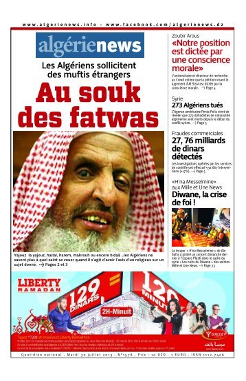 Fr-30-07-2013 - Algérie news quotidien national d'information