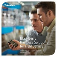 BlackBerry Business Solutions for Field Service Brochure