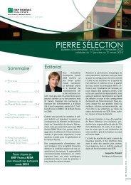 Bulletin trimestriel - Pierre Sélection - BNP Paribas REIM
