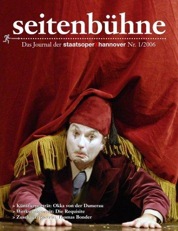 Das Journal der staatsoperXhannover Nr. 1/2006 - Staatsoper ...